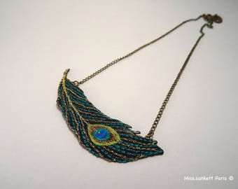 Textile necklace GATSBY