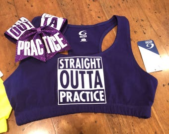 Straight outta practice Purple adult large