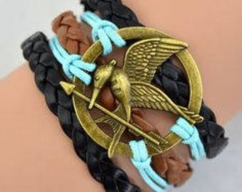 Mocking Jay Bracelet, Braided Bracelet, Katniss Everdeen Talisman, Hunger Games, Tribute of Panem,District 12