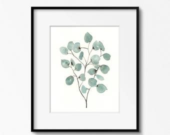 Eucalyptus - 8x10 Original Watercolor