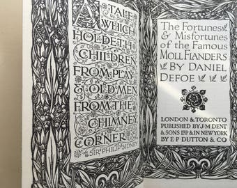 Fortunes & Misfortunes of the Famous Moll Flanders by Daniel Defoe Hardback Book Everymans Library