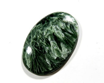 Russian Serpentine Cabochon Loose Gemstone Oval Excellent!!! Top AAA Quality Natural Russian Serpentine For Jewelry Making 38X24X5mm 35Cts