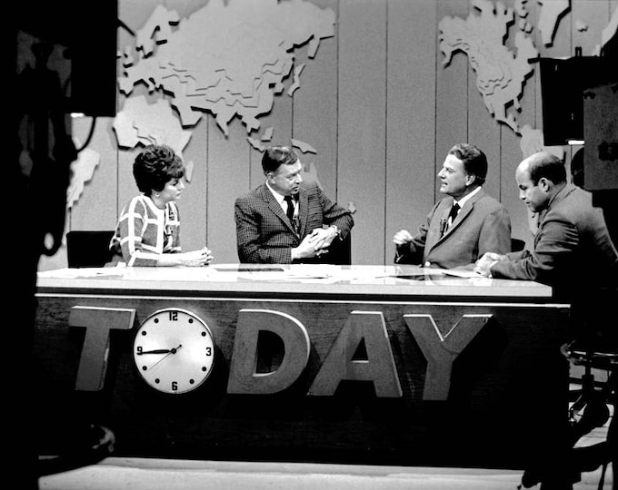 "Rev. Billy Graham Appears on NBCs ""Today"" Show in 1968 - 5X7 or 8X10 Photo (AZ-413)"