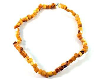 Vintage Necklace, Handmade Necklace, Natural Stone Necklace, Unique, Sweet Necklace, Orange Necklace Jasper Necklace