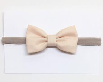 Infant Hair Bows - Light Peach - Hair Bows - Clips or headbands