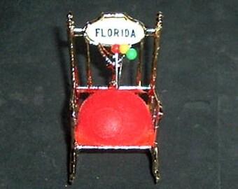 PIN CUSHION CHAIR - Florida Souvenir