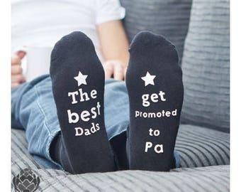 Best Daddy Socks Mens Black Socks Best Daddy Present Birthday Dad Grandpa Uncle, 100% cotton