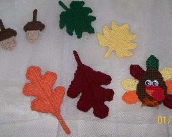 Turkey, Leaves and acorn magnets