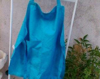 Little blue cotton apron