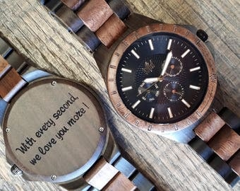 Wood Watch, Groomsmen watch, Groom gift, 5 year anniversary, wood watch men, Wedding gift, Mens watch, gift for mens, personalized, TN30