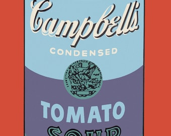 Andy Warhol Campbell's Soup Can, 1965 (blue & purple)