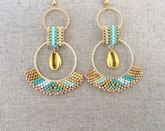 Rosita shades of turquoise earrings