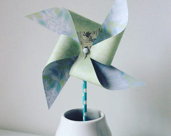 Great Windmill blue and pastel green