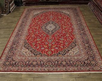 Beautiful Traditional Semi Antique Kashan Persian Area Rug Oriental Carpet 10X13