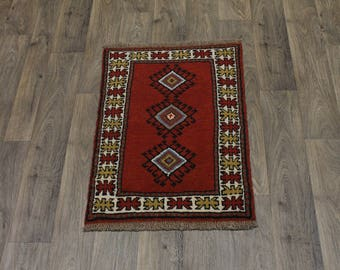 Great Shape Handmade Small Entrance Ghoochan Persia Area Rug Oriental Carpet 2X3