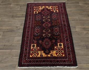 Stunning Rare Foyer Handmade Tribal Balouch Persian Rug Oriental Area Carpet 4X7
