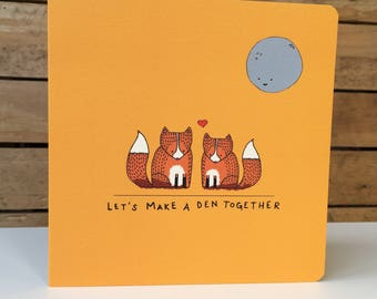 Den Together - Square Greetings Card