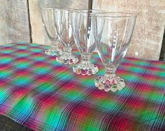 On Sale Vintage juice glasses boopie glasses wine juice parfait anchor hocking imperial glass clear retro mid century glasses serving decor