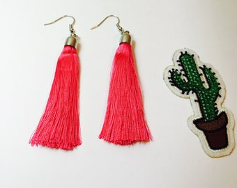 Earrings napine, nappine in silk, color earrings style ethnic