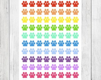 Paw Prints (88 Matte Planner Stickers)