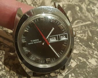 Unique and Uncommon 1974 Timex Silver Tone Mechanical Watch (Serviced and Polished)
