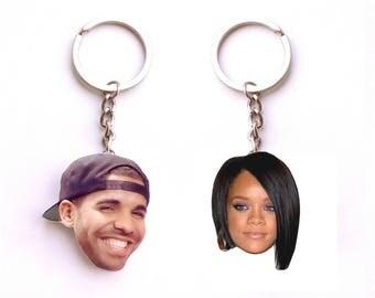Drizzy Drake and Rihanna keychains, 1-800-HotlineBling, Drake