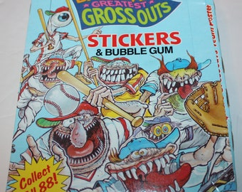 Baseball Greatest Gross Outs  Stickers & Bubble Gum 36 Packs in Original Box 1988 Topps