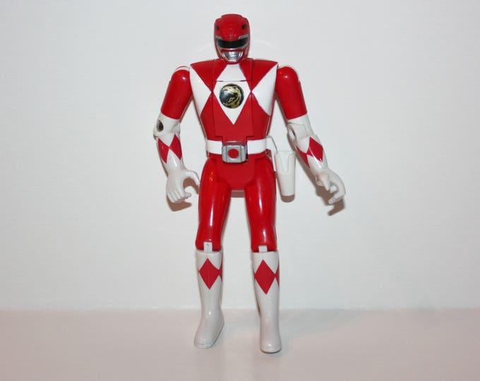RARE MMPR Power Rangers Auto Morphin Flip Head Jason Red Ranger Action Figure VHTF Bandai 1993