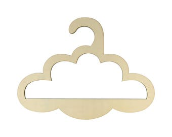 Hanger cloud 29 x 21.5 cm - cloud wooden - Silhouette cloud wooden - hanger wooden
