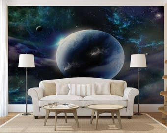 Wall Mural Planets, Wall Mural Space, Wall Mural Galaxy, Wall Mural Of Galaxy, Wall Mural Of The Sky