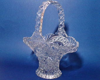 "Hofbauer Byrdes Collection 11"" Lead Crystal Basket"