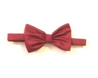Gift for Valentine's day-Burgundy mens adjustable bowtie