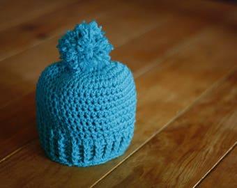 0-3 months crochet baby hat