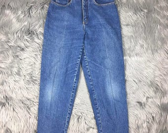 Vintage Lois Mom Jeans High Waist Tapered Leg Womens Denim Size 29