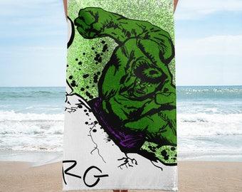 Hulk Smash Towel