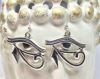 Wadjet Earrings, Eye Of Ra Earrings, Eye Of Horus Earrings, Wadjet, Eye Of Horus, Eye Of Ra, Egyptian Jewelry, Statement Earrings, Egyptian