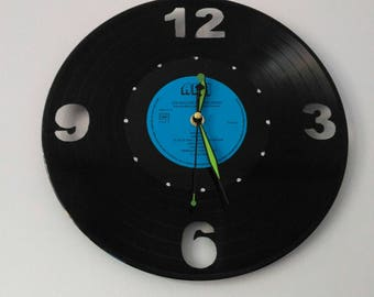 Clock on vinyl, saw cuts free shipping