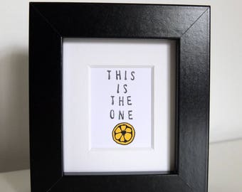 This is the one. Stone Roses lyric mini frame. Hand drawn.