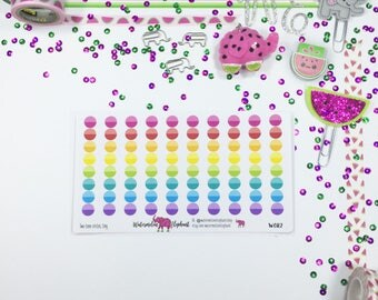 Two-tone circles, tiny, stickers for the Classic Happy Planner, Item # W082