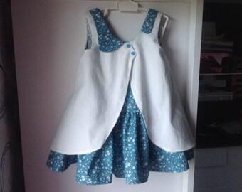 Dress blue duck and ecru