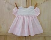Baby Girl's Easter Dress 6 - 9 Months, Vintage Pink Modest Bishop Baby Dress, Baby Dedication Dress, Reborn Baby Dress, Spring Dress