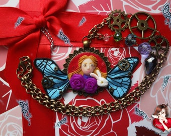Alice through the looking glass necklace