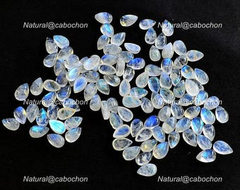 Natural Blue Fire White Rainbow Moonstone Cabochon 1 Pcs briolette Pear Loose Moonstone,Wholesale Lots Moonstone,12x8 mm