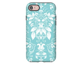 Damask iPhone 7 case, Galaxy S8 case, shabby chic iPhone 7 Plus case, iPhone 6s case, iPhone 6 case, iPhone 6 Plus case/6s Plus case