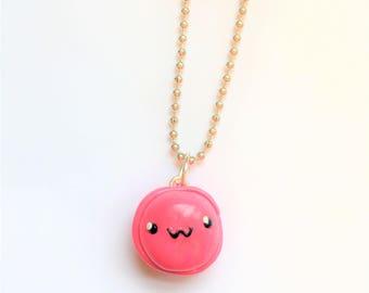 Pink Macaroon Keychain