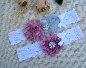 Pink Grey Garter , Pink Silver Garter, Garter Set, Nude Pink Garter, Grey Garter Lace, Toss Garter Silver, Glitter Silver, Keep Garter Grey