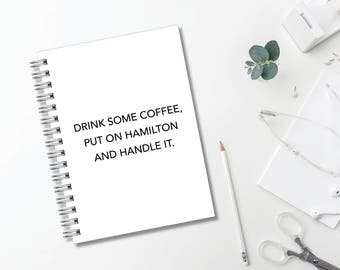 Hamilton Journal // Minimalist // Typography // Fashion // Scandinavian // Diary // Planner // Modern Office // Personalized