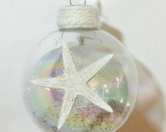 Starfish Christmas Ornament, Starfish Christmas Decor, Starfish Ornament, Coastal Christmas Decor, Coastal Christmas Ornaments, Ornamensts