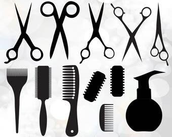 Hairdresser svg - hairdresser Clipart - barber salon digital download - hairdresser svg, dxf, eps, png - Hairdresser Cut File - Barber Svg,