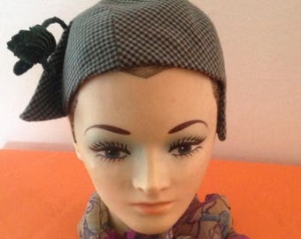 On Sale Fantastic Ladies Vintage Houndstooth Hat